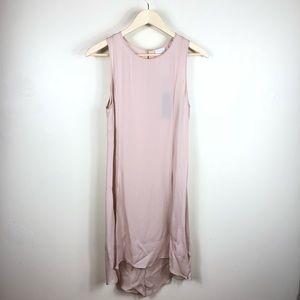 Heather By Bordeaux Silk Blush Split Tunic Size S